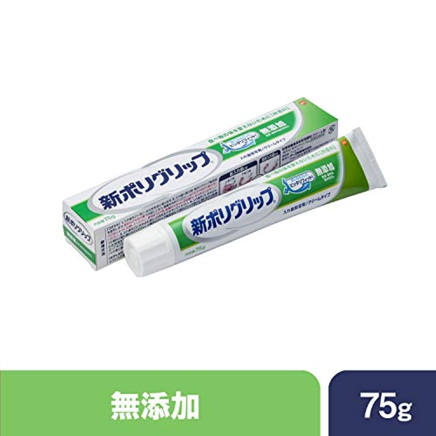 書く断線ストレス部分?総入れ歯安定剤 新ポリグリップ 無添加(色素?香料を含みません) 75g