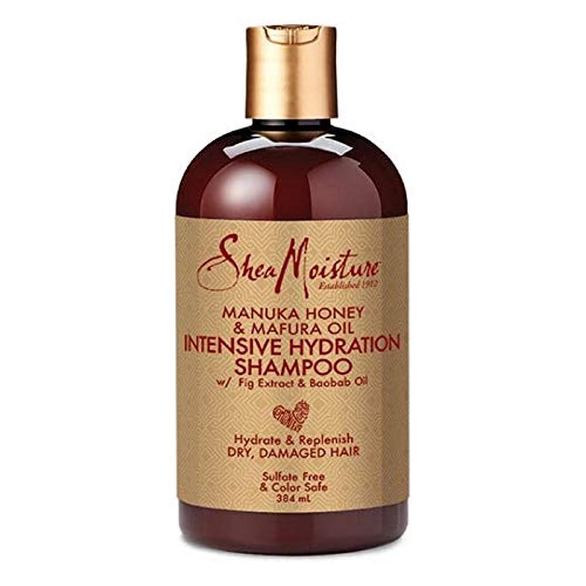 クリエイティブマンハッタンジャグリング[Shea Moisture ] シア水分マヌカハニー&Mafuraオイルシャンプー384ミリリットル - Shea Moisture Manuka Honey & Mafura Oil Shampoo 384ml [並行輸入品]