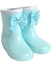 レインブーツ キッズ 女の子 リボン GAME538 おしゃれ 長靴 レインシューズ 雨靴 柔らかい こども 子供 子供用 通園 通学