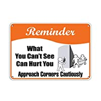Hypothesis 30x20cm 警告ポスター ブリキ 看板 Reminder what can't see can hurt approach corners cautiously がいる壁の装飾用のティンサイン