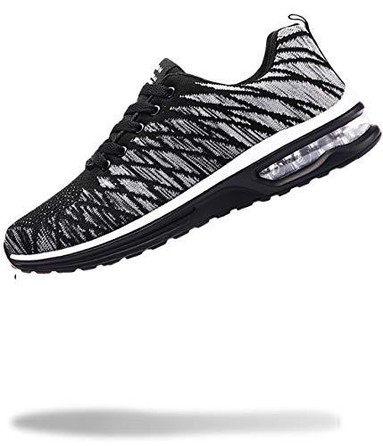 [50dB] エアライト レディース スニーカー 軽量 運動靴 くつ シューズ ジム トレーニング ダンス 体育館 ランニング (グレー 24.0cm)