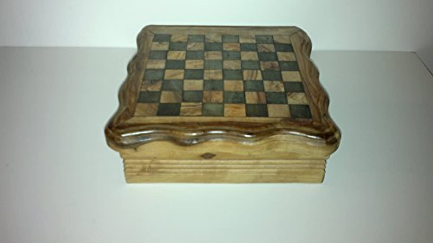 Naturally Med - Olive Wood Four Games Set / Compendium - Chess, Checkers, Dominoes, Solitaire by Naturally Med [並行輸入品]