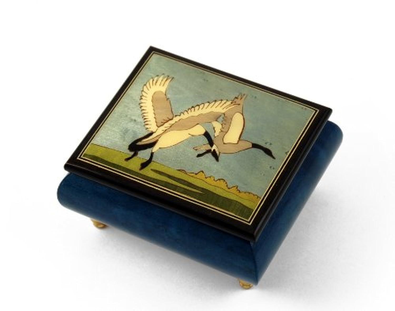 手作り鳥テーマイタリア音楽ボックスwith Wild Geese in Flight 303. Pennies from Heaven ゴールド MBA18BIRDS3