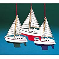 Kurt Adler木製ヨット帆とオーナメントセット