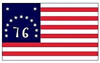 Bennington Historic 76国旗ステッカー(独立戦争デカール) -ステッカーグラフィックデカール