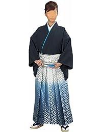 【日本製】ぼかし 金襴袴 (ao5498)[馬乗り型]  舞踊袴 はかま 袴 着物 きもの 成人式