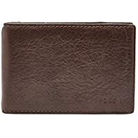 Fossil Men's Tate Leather RFID Blocking Money Clip Bifold Wallet