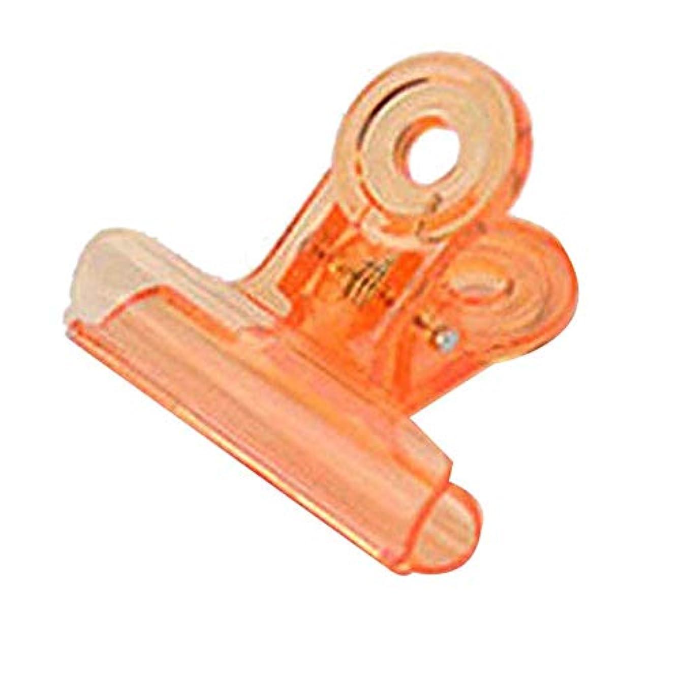 株式会社堂々たる分析的CUHAWUDBA カーブネイルピンチクリップツール多機能プラスチック爪 ランダムカラー(オレンジ)