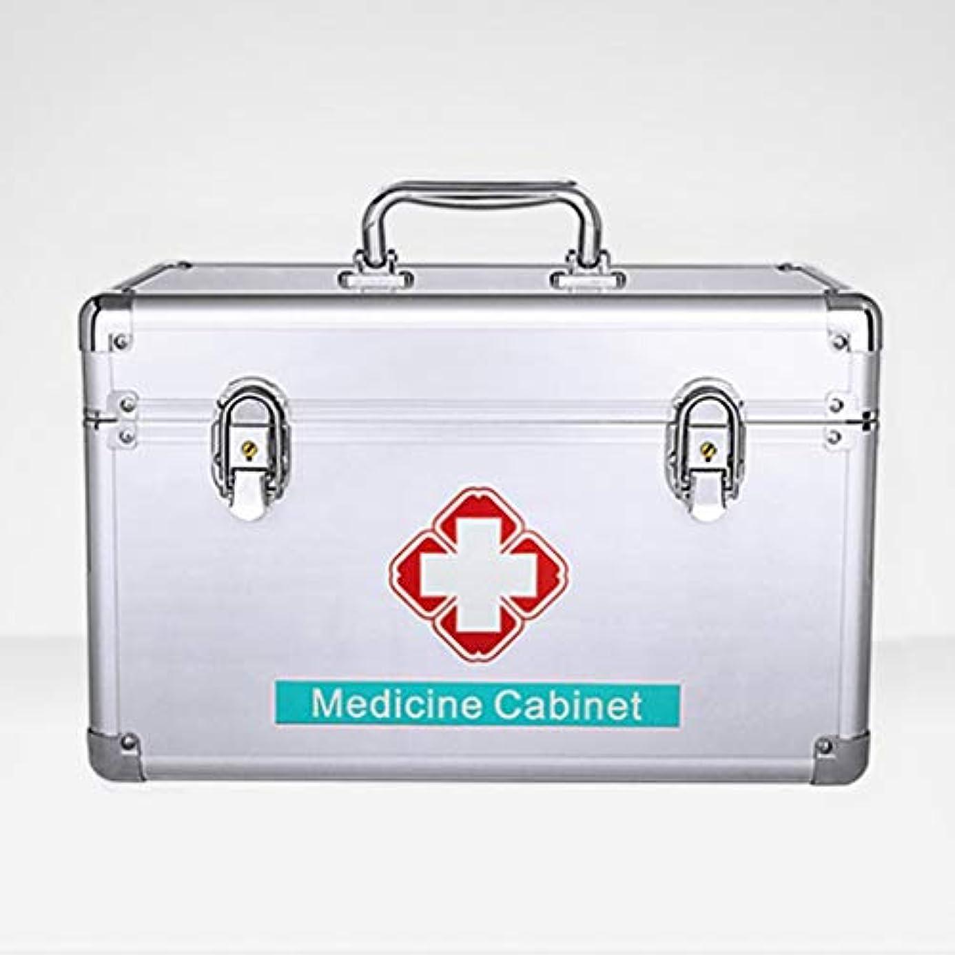 主婦立ち寄る回転緊急用バッグ 薬収納ボックスアルミ合金ポータブル医療ケース多層応急処置キット家庭用/M、L、XL、XXLのフルセット HMMSP (Size : XL)