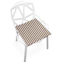 座布団 低反発 縞模様 赤 ビロード 椅子用 オフィス 車 洗える 40x40 かわいい おしゃれ ファスナー ふわふわ fohoo 学校