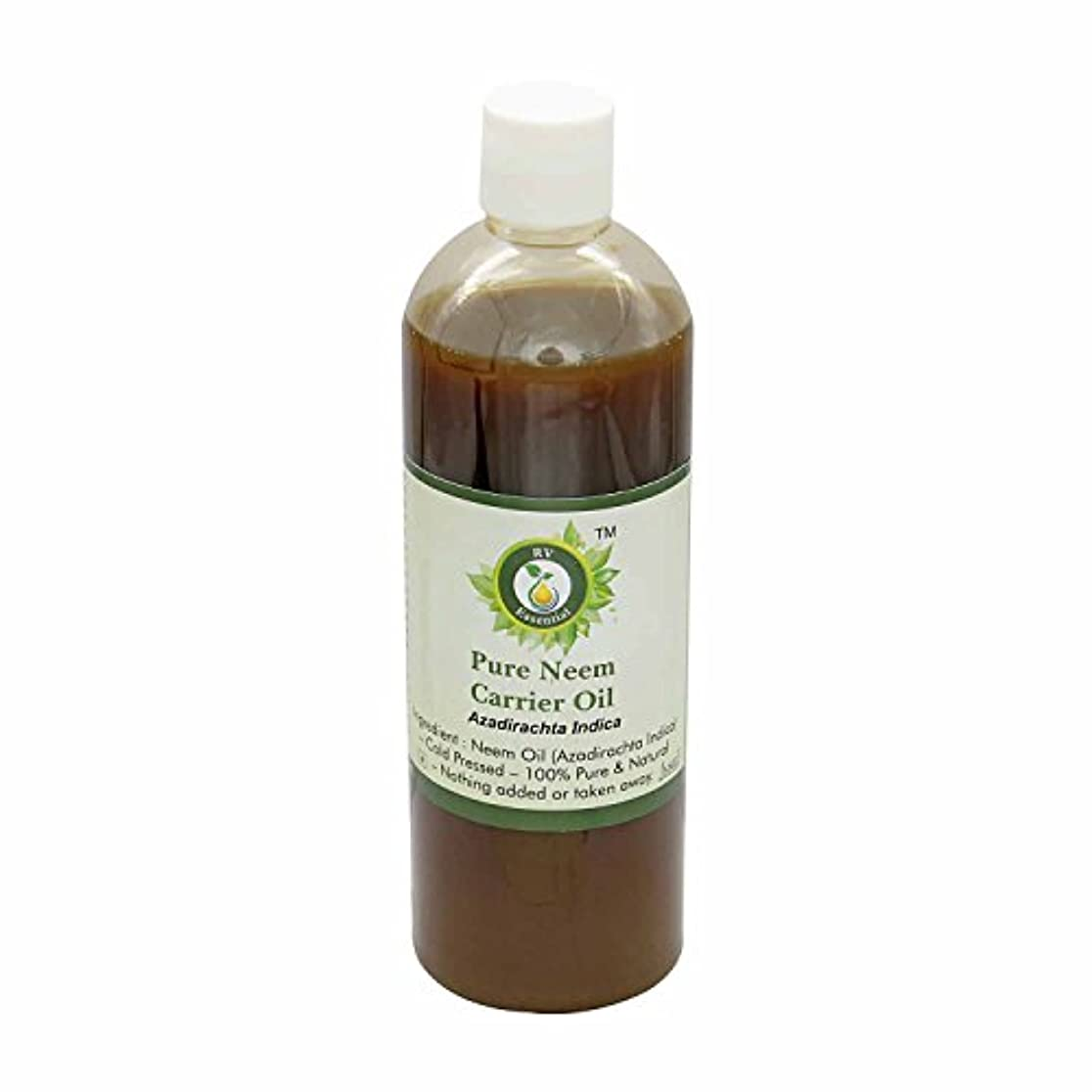 本物称賛ランドリーR V Essential 純Neemキャリアオイル100ml (3.38oz)- Azadirachta Indica (100%ピュア&ナチュラルコールドPressed) Pure Neem Carrier Oil