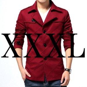(メイク トゥ ビー) Make 2 Be スタイリシュ メンズ ジャケット 春 夏 スプリング コート テラード ジャケット テラジャケ コート MA02 (24.ワインレッド_XXXLサイズ)