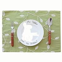 Luckya ランチョンマット テーブルマット 3PCS / LOTホームポリエステル綿手刺繍の花のテーブルマット 通気性 耐熱性 家庭&レストランに最適 (Color : Green, Size : 32*45cm)