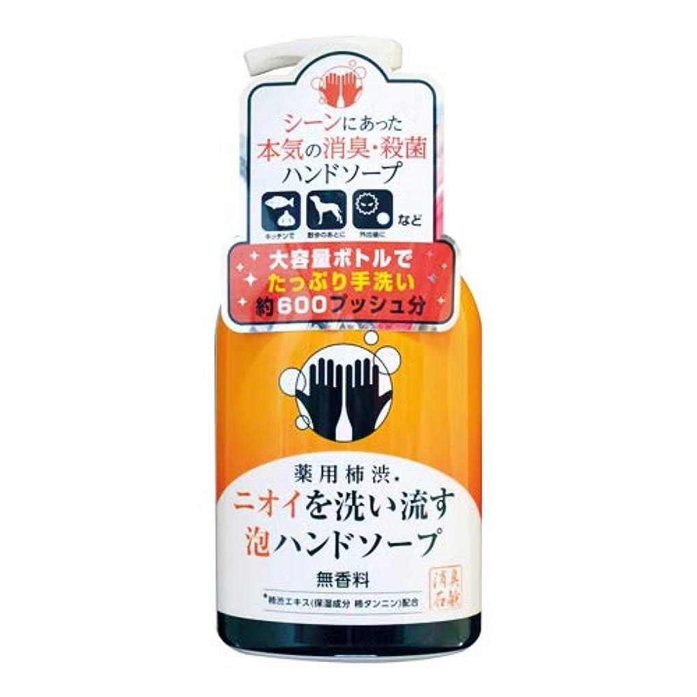 意見平行名声マックス 薬用柿渋泡ハンドソープ 本体 450ml×12本 【医薬部外品】