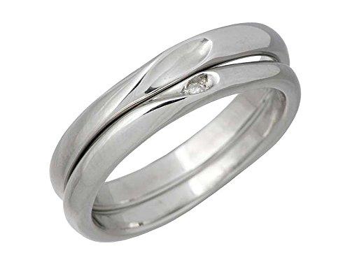 white clover ホワイトクローバー シェア ハート ステンレス ペア リング 指輪 3~19号 7~30号 誕生石 刻印可能 4SUR100M-102L-RD