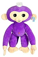 Commonwealth Toys Fingerlings Monkey Large Plush%カンマ% Purple [並行輸入品]