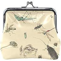 がま口 財布 口金 小銭入れ ポーチ 水墨 動物 かえる Jiemeil バッグ かわいい 高級レザー レディース プレゼント ほど良いサイズ