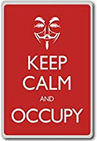 Keep Calm And Occupy (Anonymous) - Motivational Quotes Fridge Magnet - ?????????