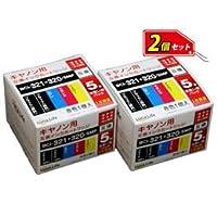 【まとめ 3セット】 ワールドビジネスサプライ Luna Life キヤノン用 互換インクカートリッジ BCI-321+320/5MP 5本パック×2 お買得セット