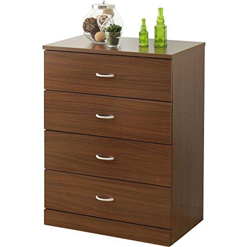チェスト 4段 木製 幅58.5×奥行38.5×高さ80.5cm ブラウン 96838