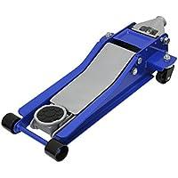 WEIMALL 【ブルー】 ガレージジャッキ 低床 フロアジャッキ 3t 3トン シンプルタイプ ジャッキ ローダンウンジャッキ 油圧ジャッキ 低床ジャッキ デュアルポンプ式 ローダウン車対応 ジャッキアップ 車用ジャッキ