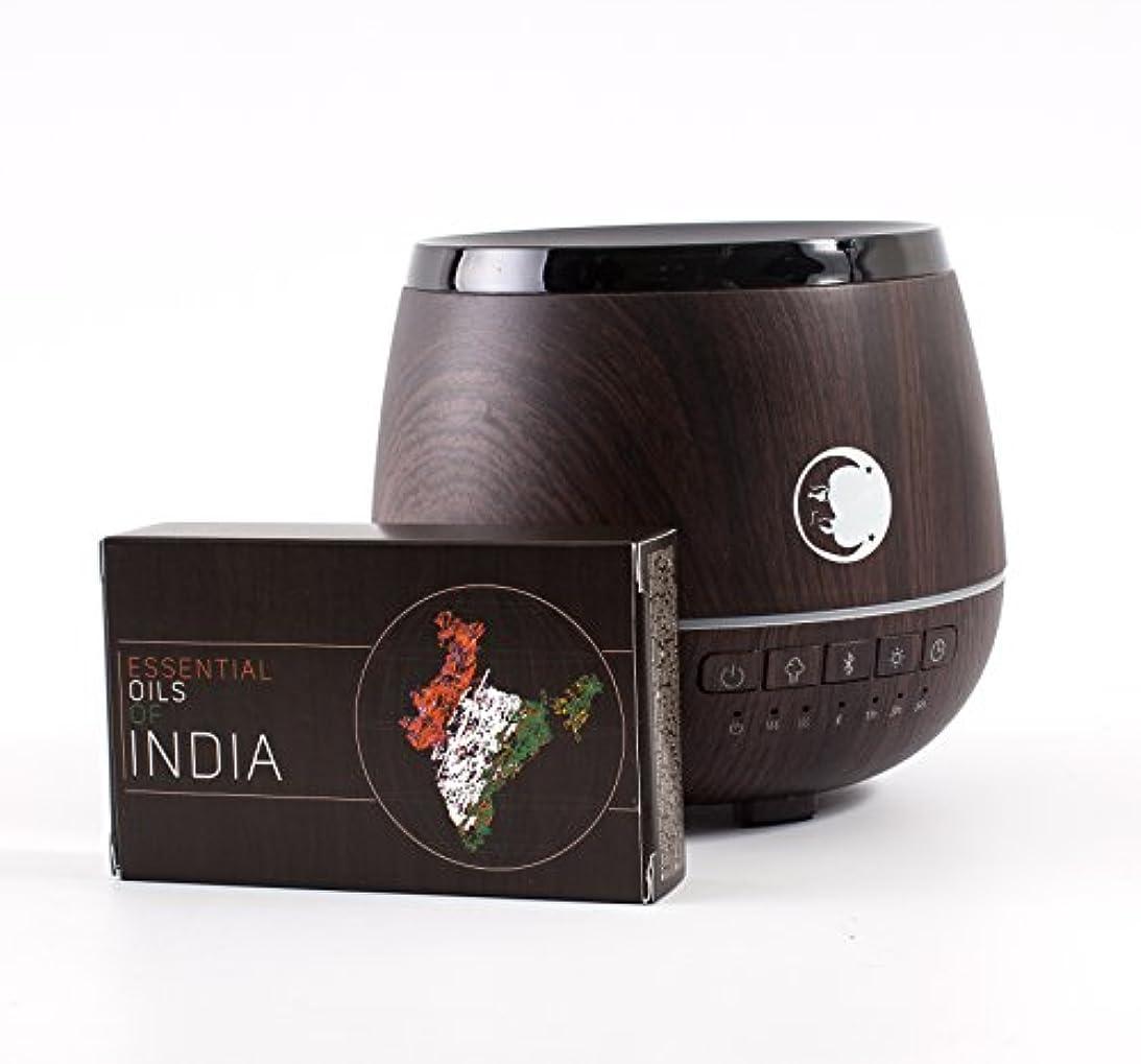 ランプわかる悪夢Mystic Moments | Wood Effect Aromatherapy Oil Ultrasonic Diffuser With Bluetooth Speaker & LED Lights + Essential...