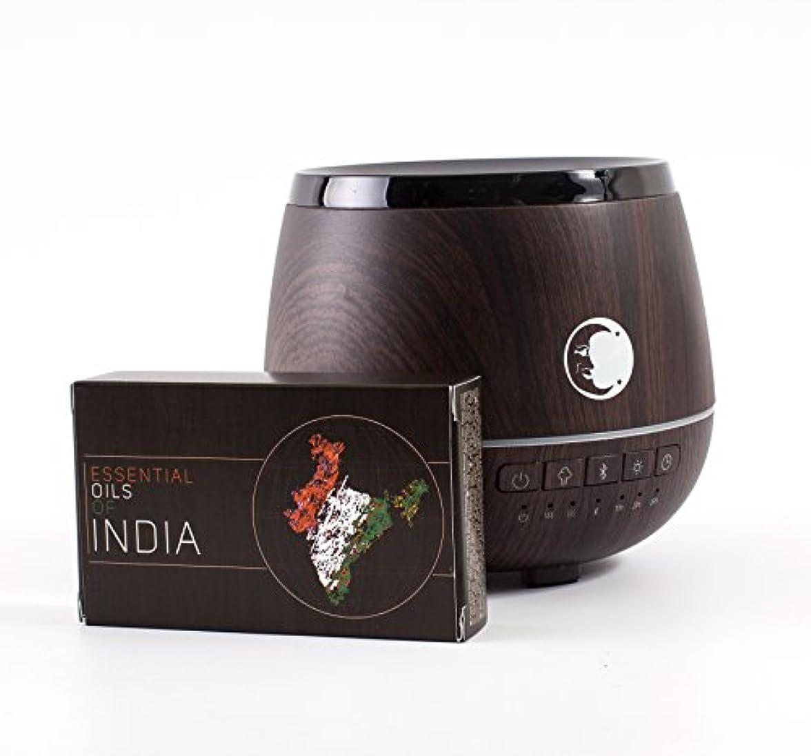 報復城コミュニケーションMystic Moments   Wood Effect Aromatherapy Oil Ultrasonic Diffuser With Bluetooth Speaker & LED Lights + Essential...