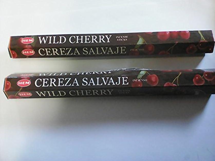 レクリエーション有名なサーマルHemお香スティックWild Cherry --- 20グラム-- 2パック