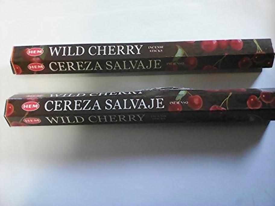 検索クリアチーターHemお香スティックWild Cherry --- 20グラム-- 2パック