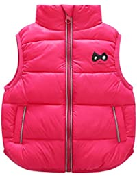 2dcdf16556338 キッズ ダウン ベスト 軽量 保温 防寒 袖なし 中綿ベスト 裏起毛 赤ちゃん ...