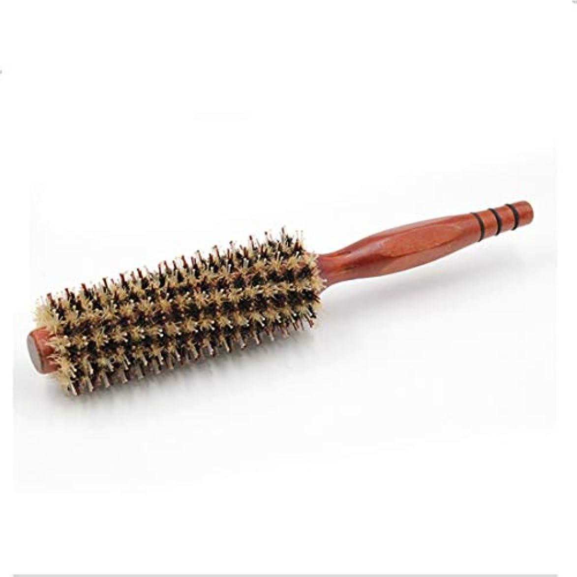 タンパク質相互接続後悔Guomao ラウンドスタイリングヘアブラシ-11インチの長さ-女性用木製ハンドル付きブロードライヤー&カーリングロールヘアブラシ (サイズ : 16)