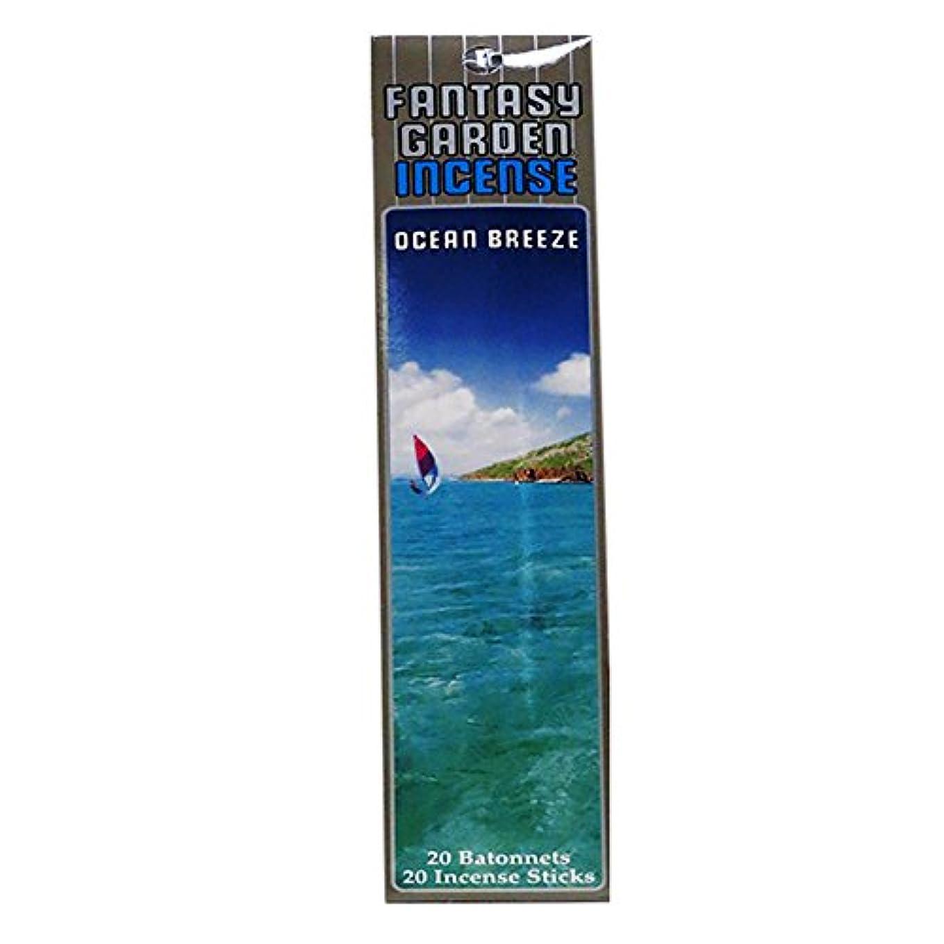 成分スケッチ避難ファンタジーガーデンincense- Ocean Breeze ( 20 in 1パック) 8032542