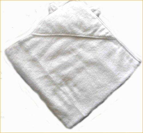 アフガン おくるみ タオル製ベビー服 今治タオル 白雲 日本製 フード付きバスタオル=白 無撚糸タオル=出産祝いやギフトにもどうぞ
