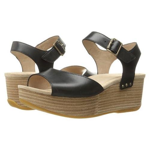 (ダンスコ)Dansko レディースサンダル・靴 Silvie Black Burnished US Women's 7.5-8 24-24.5cm Regular [並行輸入品]