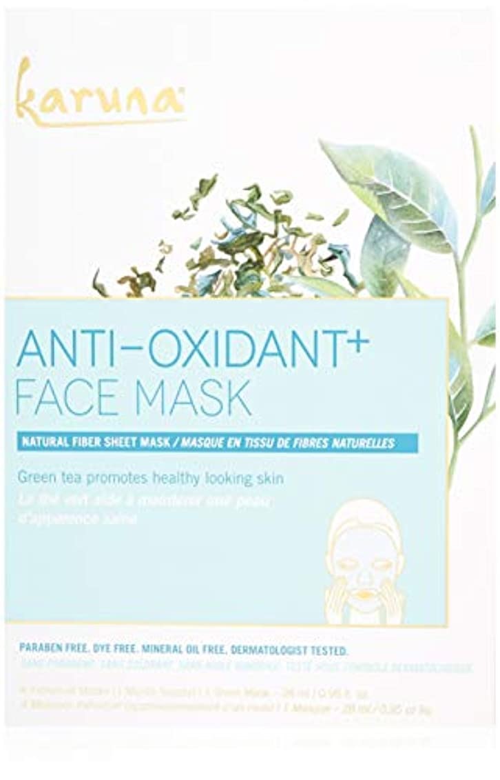 期待口径スクリューKaruna Anti-Oxidant+ Face Mask 4sheets並行輸入品