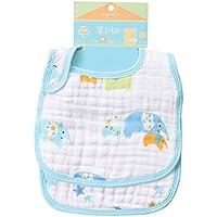 Angel Dear Soft 100% Soft Muslin Cotton Snap Bibs, Elephants by Angel Dear