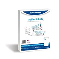 printworks perforated paper for raffle tickets coupons and more tear