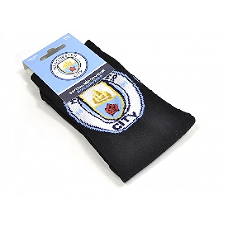 マンチェスター?シティ フットボールクラブ Manchester City FC オフィシャル商品 メンズ ロゴ ソックス 靴下 (1足組)