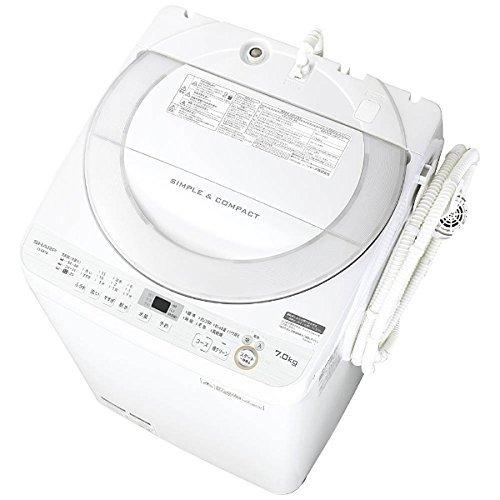 シャープ 全自動洗濯機 ステンレス穴なし槽 7kg ホワイト系 ES-GE7B-W