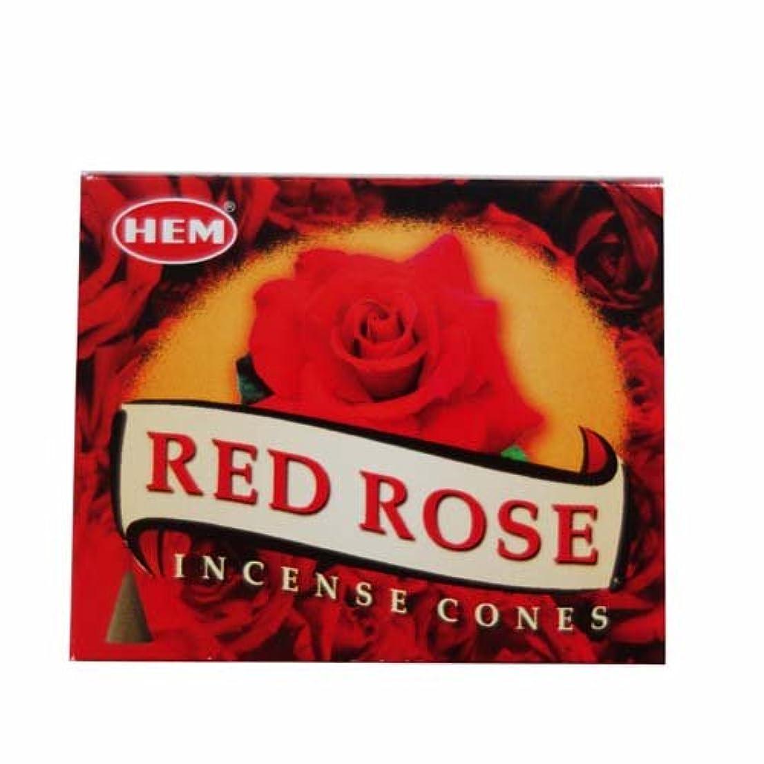 一元化する薬局香りHEM (ヘム) コーンお香 RedRose(レッドローズ)