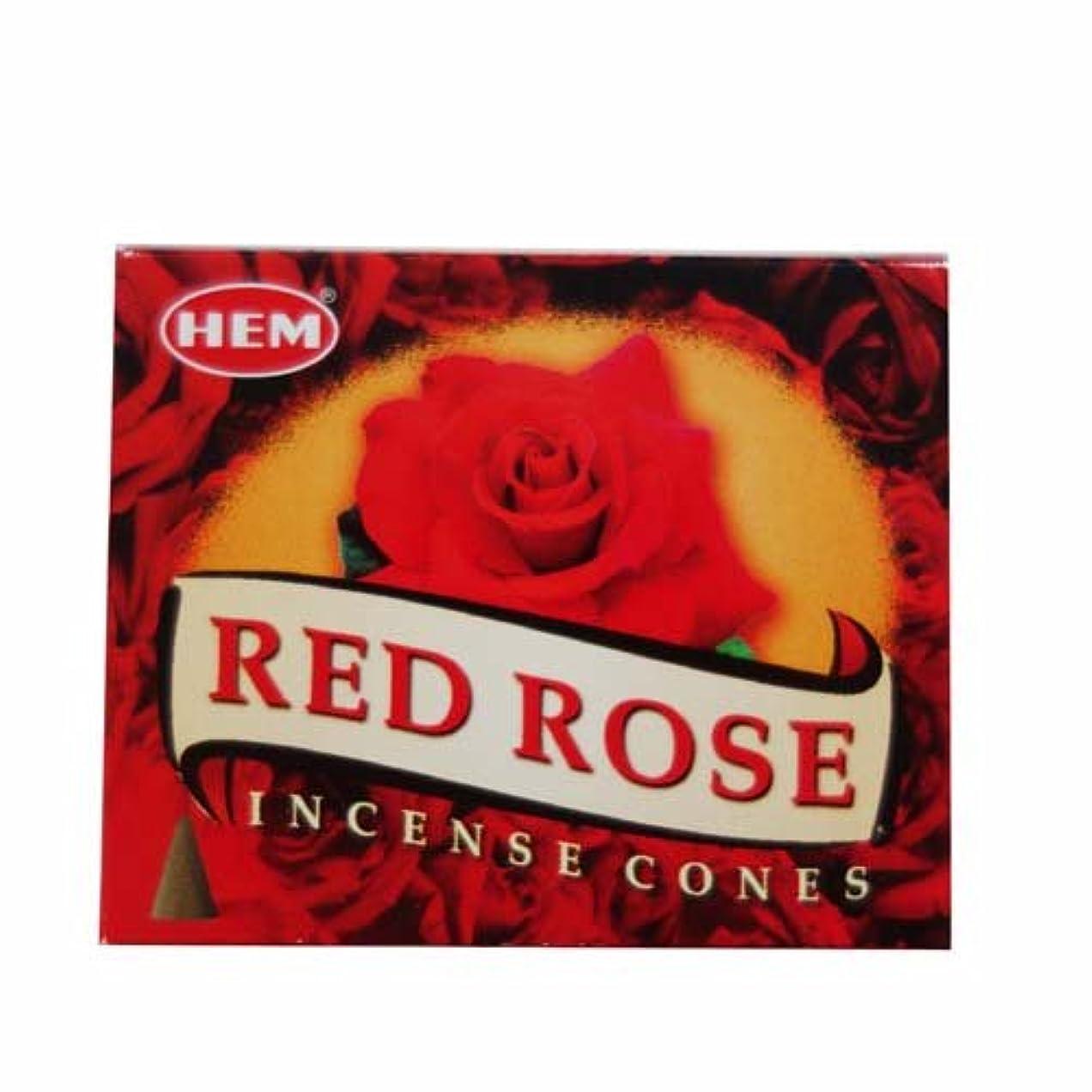 素晴らしい腹部組み合わせるHEM (ヘム) コーンお香 RedRose(レッドローズ)
