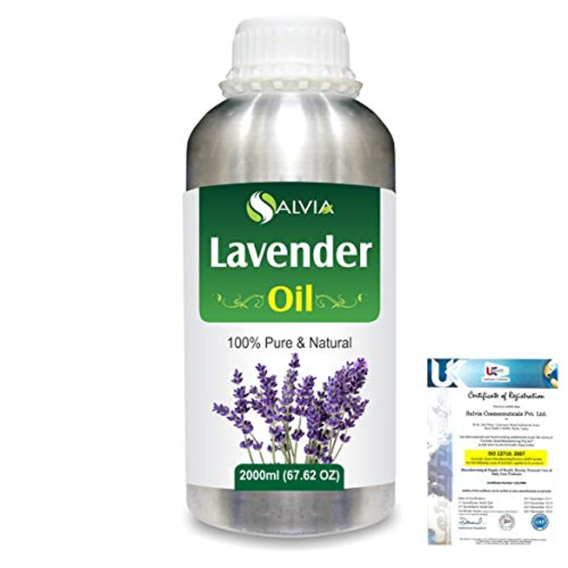 気候の山十年動くLavender (Lavandula officinalis) 100% Natural Pure Essential Oil 2000ml/67 fl.oz.