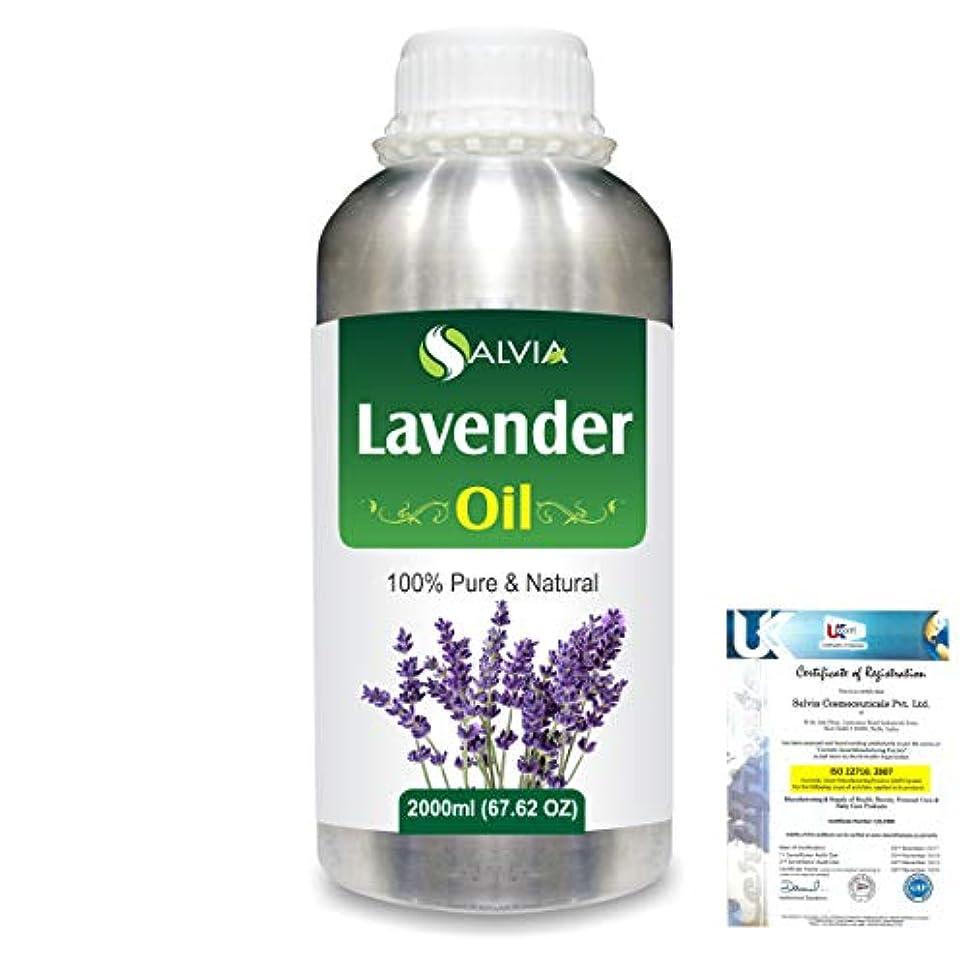行き当たりばったり封筒微視的Lavender (Lavandula officinalis) 100% Natural Pure Essential Oil 2000ml/67 fl.oz.