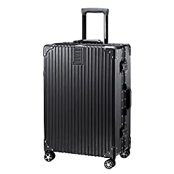 TABITORA(タビトラ) スーツケース メーカー1年保証 小型 人気 キャリーバッグ TSAロック搭載 旅行用品 出張 超軽量 大容量 静音 8輪 アルミフレーム 39L 4KG ブラック SS