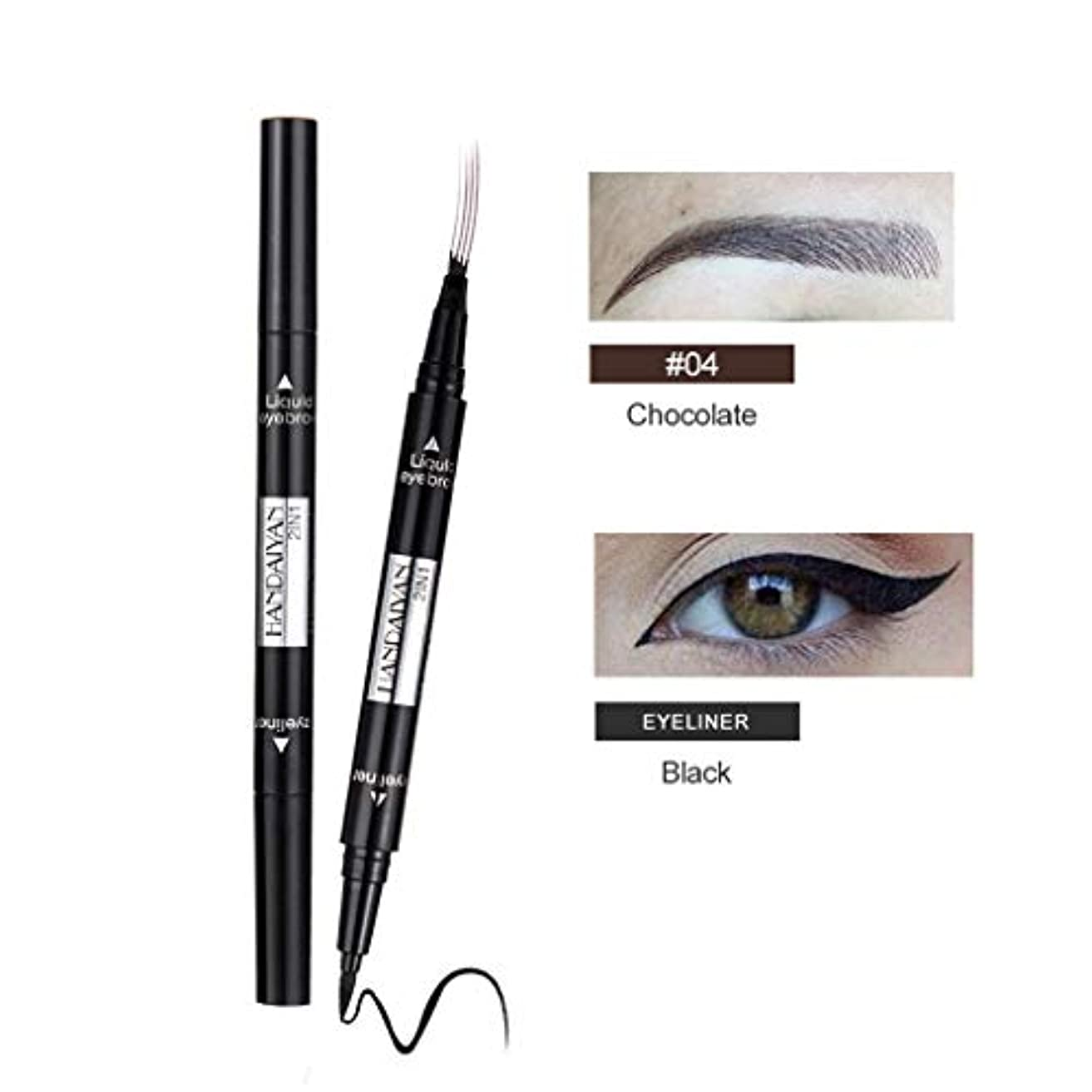 眉毛の入れ墨のペンの防水フォークの先端のスケッチの化粧ペンのMicrobladingインクスケッチ
