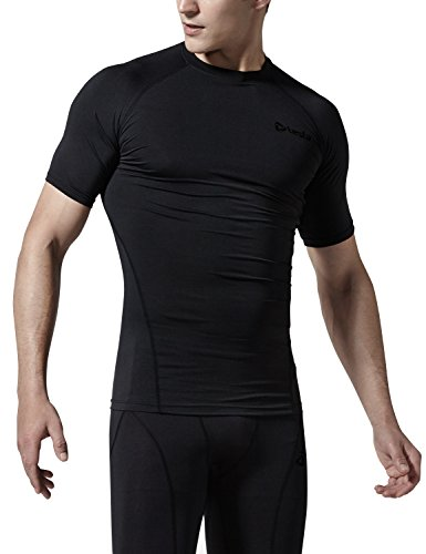 (テスラ) TESLA メンズ 冬用起毛 半袖 スポーツシャツ[吸湿発熱・保温] コンプレッションウェア パワーストレッチ アンダーウェア YUB36