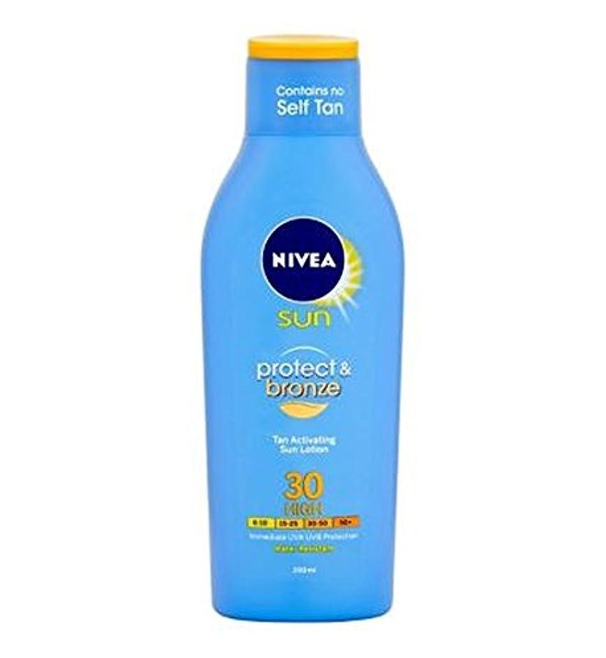 害虫分配しますトレースニベアの日は、保護し、青銅Spf30の200ミリリットル (Nivea) (x2) - Nivea Sun Protect and Bronze SPF30 200ml (Pack of 2) [並行輸入品]