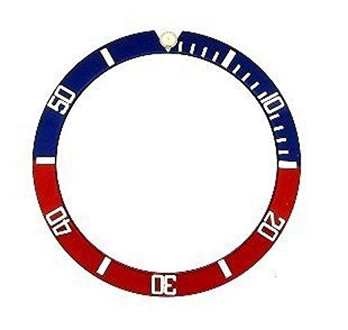 輸入王オリジナル サブマリーナ 用 ベゼルディスク 社外品 16610,16800 ブルー/レッド/ホワイト r00