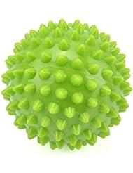 とがったローラーボール筋肉リラクゼーションマッサージボール、足底筋膜炎/トリガーポイント/深部組織/筋筋膜リリース8.5CmのためのエクササイズヨガPVCラクロスボール,Green