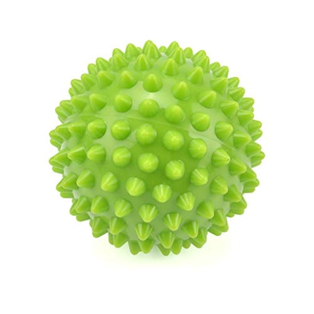 インカ帝国排泄する記念とがったローラーボール筋肉リラクゼーションマッサージボール、足底筋膜炎/トリガーポイント/深部組織/筋筋膜リリース8.5CmのためのエクササイズヨガPVCラクロスボール,Green
